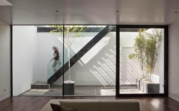 Sunken courtyard Ben Adams Architects