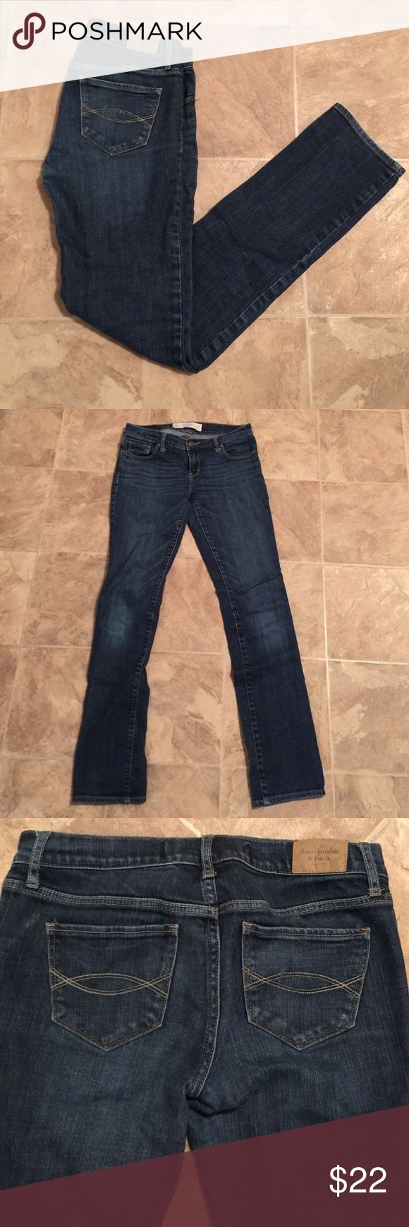 Abercrombie & Fitch Perfect stretch Jeans EUC A & F Perfect stretch Jeans. EUC.                         (3) Abercrombie & Fitch Jeans Straight Leg