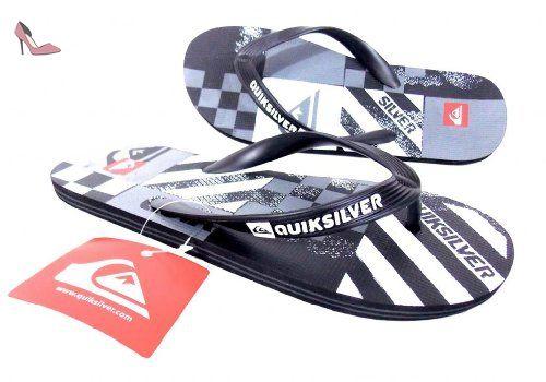 Quiksilver - Tong homme gris/noir - Pointure 44,5 - Chaussures quiksilver (*Partner-Link)