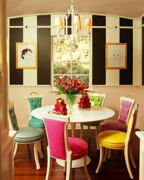 This Breakfast Room Is Like Eating A Box Of Fancy French Macarons In A Kate  Spade