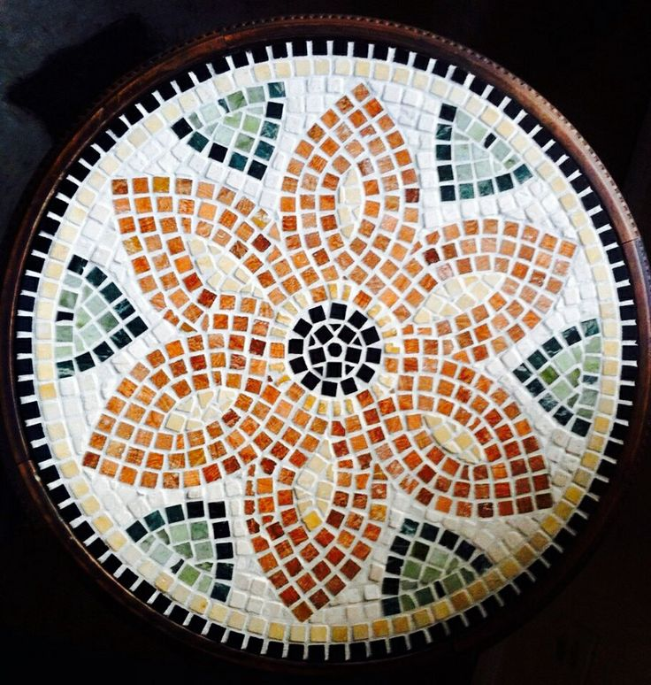 Mosaic marble table top.