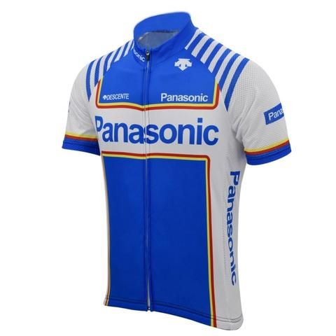 Vintage Panasonic Short sleeve cycling jersey made of elastic and  comfortable SL 125 24aa87045