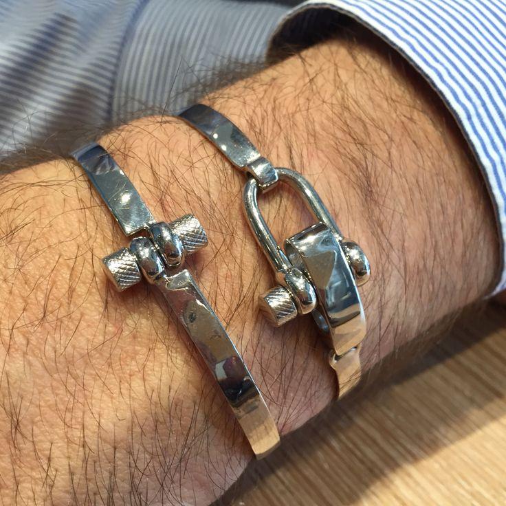 Screw silver bracelets  Bracciali a vite in argento 925