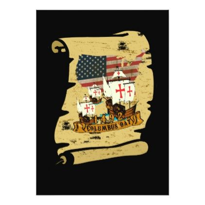 Columbus Day Card - columbus day holiday united states of america