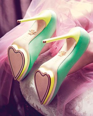 Shoe love, from the depths of our soles. Pinned by Jennifer Cuminale; image from Charlotte Olympia