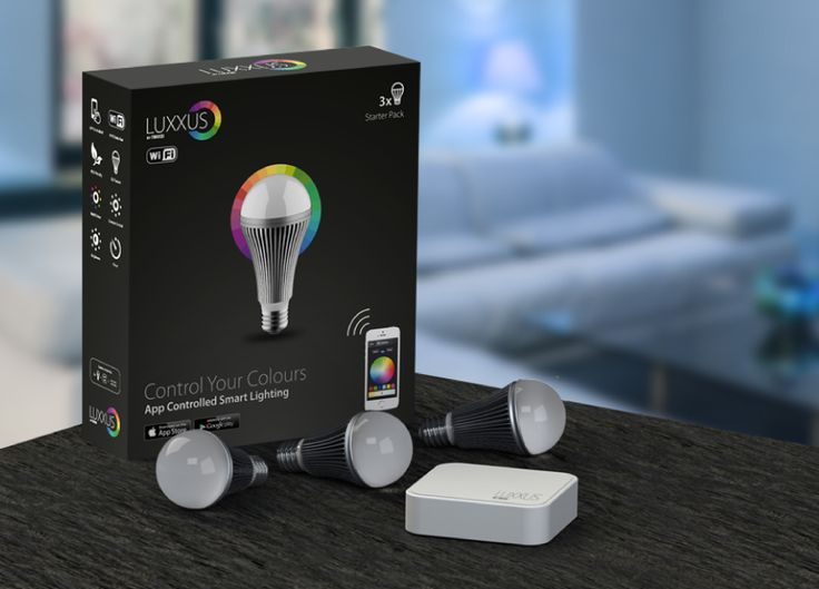 Luxxus, an app-controlled smart lighting system by NIKKEI with 16 million colors.