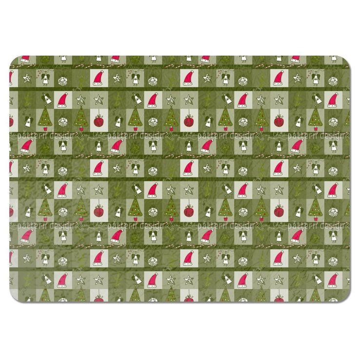 Uneekee Christmas Dream Green Placemats (Set of 4) (Christmas Dream Green Placemat) (Polyester)