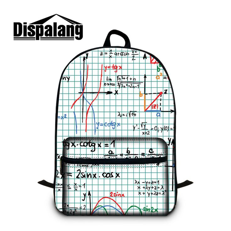 Dispalang 3D print Mathematical function school bags for high school students personalized design laptop backpacks for teenagers #Affiliate