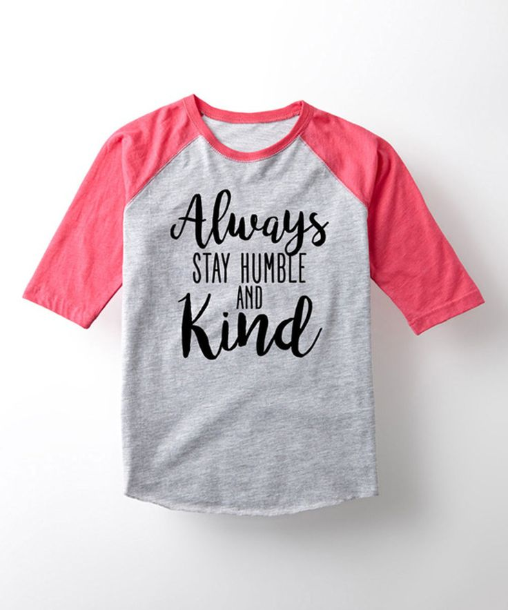Look what I found on #zulily! Athletic Heather 'Humble and Kind' Raglan Tee…