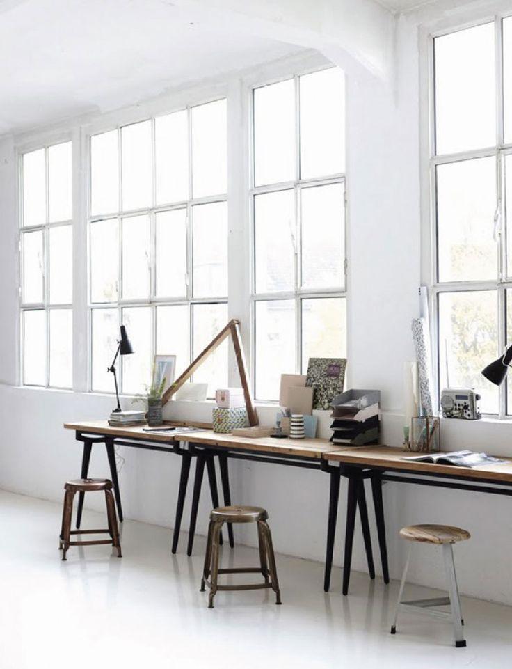 High Quality Grossartige Idee Für Ein Kleine Arbeitsecke Im Loft Atelier   White, Home,  Interior,