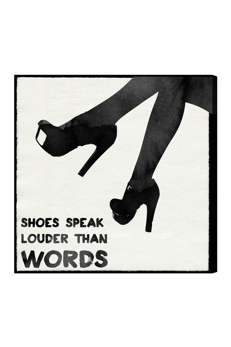 Shoes Speak Canvas Wall Art