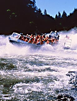 Rogue River jet boat tours near Gold Beach