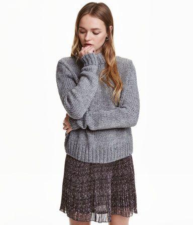 Pullover mit Turtleneck | Hellgrau | Damen | H&M DE