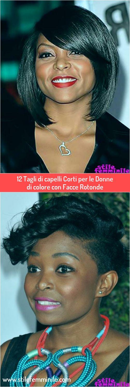 12 Tagli di capelli Corti per le Donne di colore con Facce ...