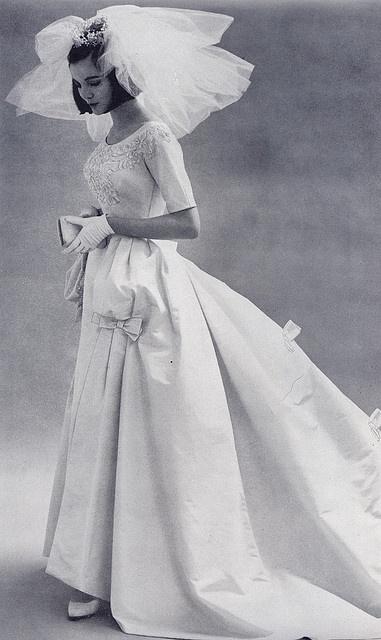 wedding gown, 1963