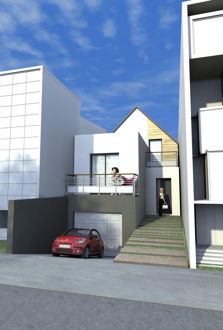 Maison gamme urban vue extérieure rue