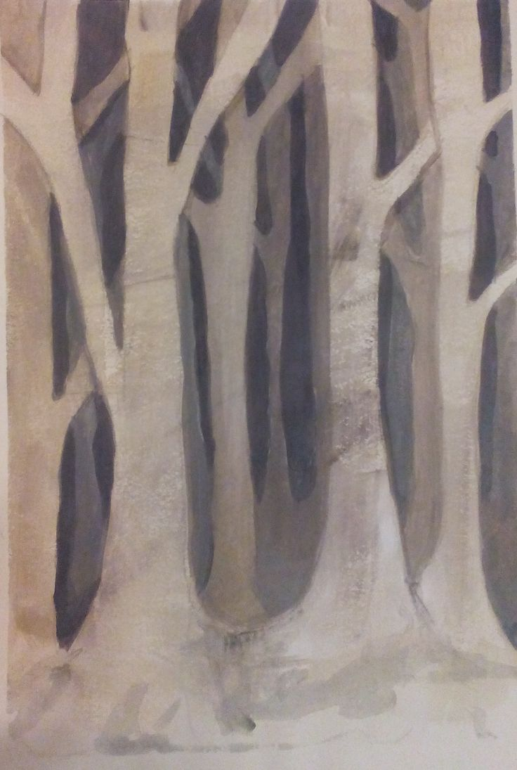 The Silence, acrylic on paper by Tatjana Danilovic