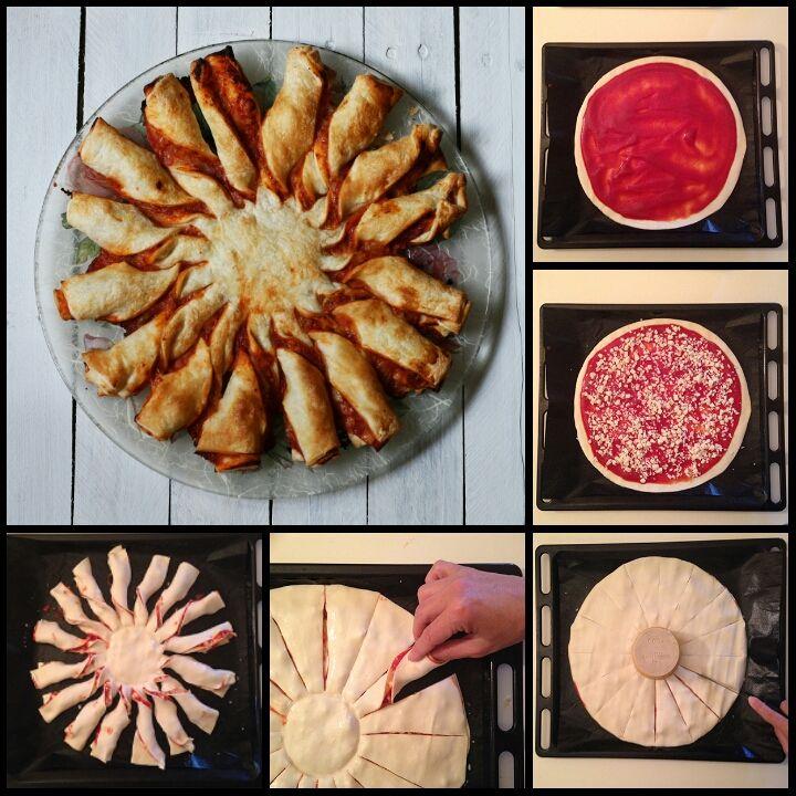 Ricetta girasole di sfoglia alla pizzaiola, cucina con sara