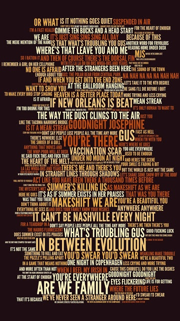 The Tragically Hip  In Between Evolution  Digital Lyric Art