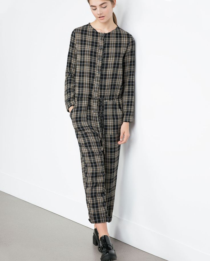 Image 2 of CHECK JUMPSUIT from Zara