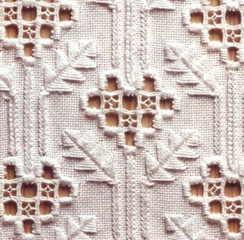 Hardanger #white #geometric #leaves #white_on_white