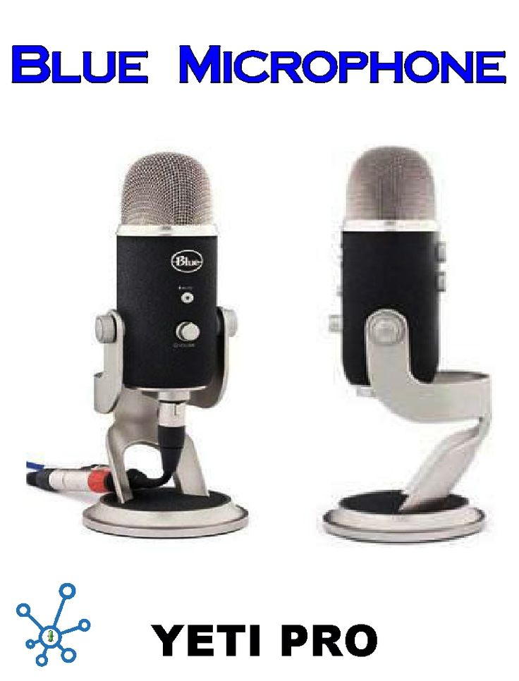Blue Microphone Yeti Pro version offers a 24-bit / 129kHz digital recording resolution, analog XLR output and a proprietary triple capsule array. The recording capabilities make it possible to capture audio at four times greater detail than CD-quality. Pro results for vocals, instruments, podcasts and more. Layer vocal and instruments to create fully produced songs. Zero-latency headphone output, volume control for direct monitoring, adjustable gain and digital mute. shipped within Canada.