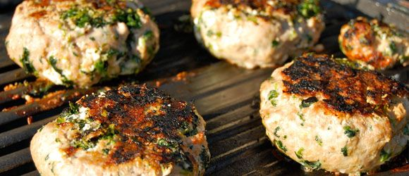 Goat Cheese and Spinach Turkey Burgers | Yummy in my Tummy | Pinterest