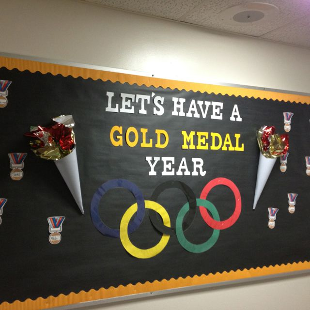 Olympic themed room this year!