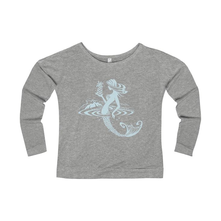 "Kurt Ziegler ""Mermaid Discovery"" Women's Terry Long Sleeve Scoopneck T-Shirt"