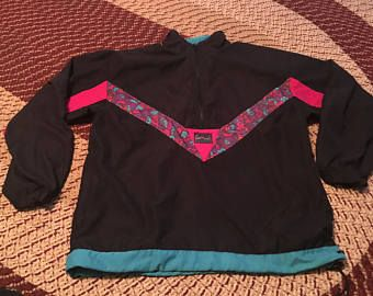 años 90 Reebok Cazadora vintage raro increíble Azteca arranque rosa nike gris etiqueta adidas pista juego trabajo hipster retro hip-hop Shaq de moda