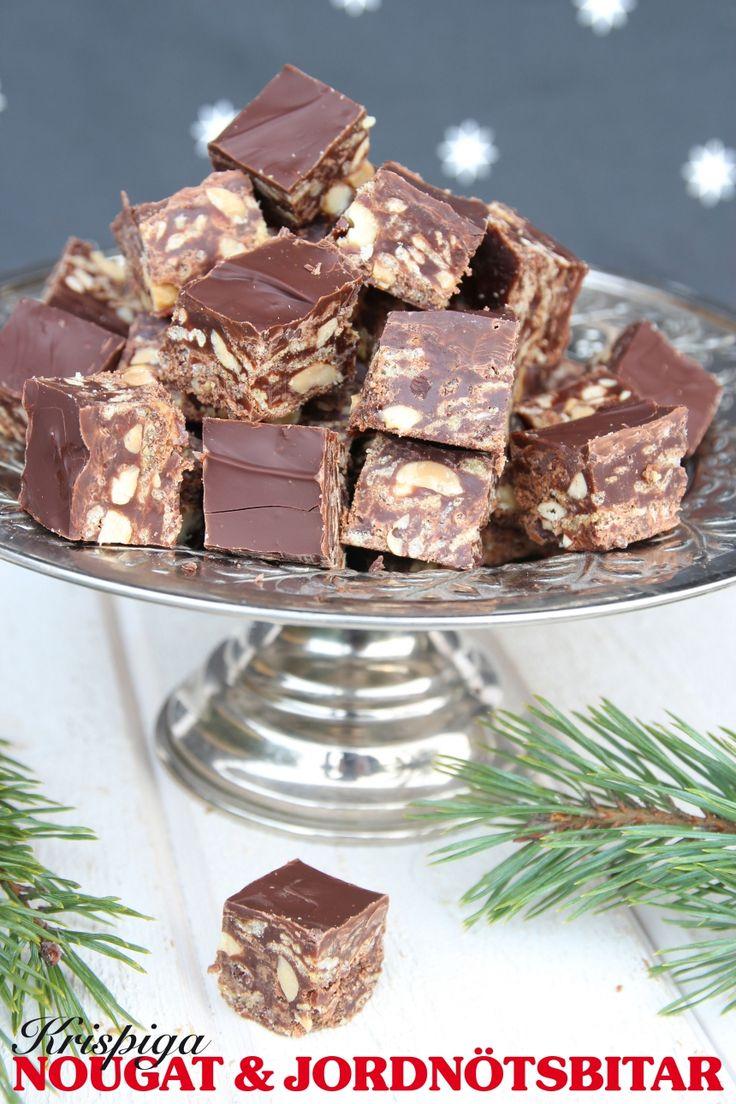 Krispiga Nougat- & chokladbitar med Special K-flingor och salta nötter.