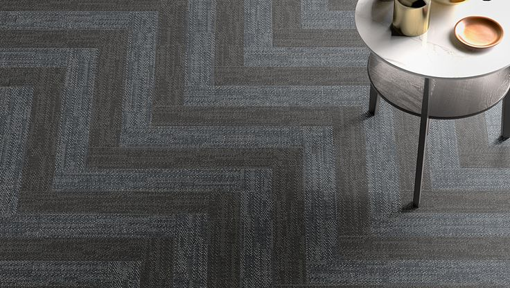 A chevron pattern from our Digital Art series, featuring the Night and Denim colours. This tile is a porcelain tile available in a variety of shapes, colours, and sizes--which can be combined to create unique walls and floors.