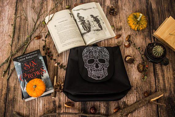 Haloween Bag Skull Mini Backpack Embroidered Skull Bag