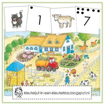 Zoek en tel de dieren van de boerderij (met tekeningen van Dagmar Stam)