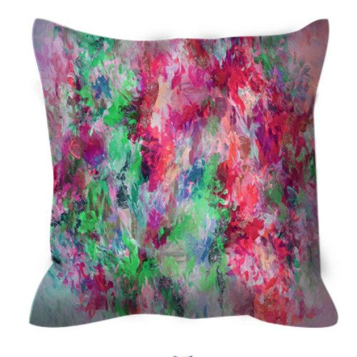 THE NEXUS Hot Pink and Lime Greenery Abstract Art Decorative Suede Throw Pillow Cushion Cover by EbiEmporium, #Colorful #EbiEmporium #suede #PillowCover #Pillow #ThrowPillow #HomeDecor #Modern #HotPink #Feminine #Boho #Green #Greenery #Lime #Decorative #Chic #Girly #Pretty #AbstractArt #Whimsical