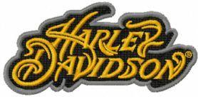 Harley Davidson athena logo machine embroidery design. Machine embroidery design. www.embroideres.com