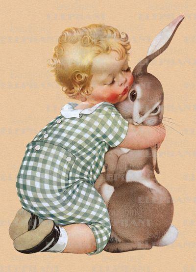 Vintage baby print.