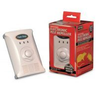 £37.99 - Pest-Stop Ultrasonic 3000   This powerful electronic pest repeller covers the whole building (up to 3000 sq. ft.), and is effective against mice, rats, ants and most other crawling insects.