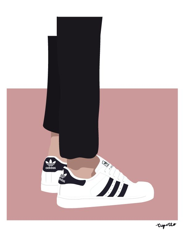 Adidas Superstar ll illustration by TIIPOTTO