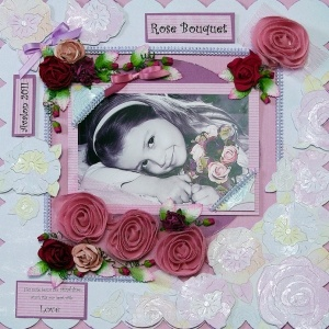 A gorgeous Layout using Kaisercrafts Pink Gelato Collection.