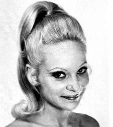 High ponytail from the Early 70's