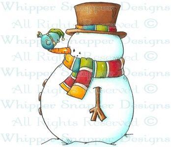 Scratch My Nose - Snowmen Images - Snowmen - Rubber Stamps - Shop