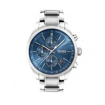 1513478 Ανδρικό quartz ρολόι HUGO BOSS Grand Prix με μπλε καντράν & ατσάλινο μπρασελέ | Ανδρικά ρολόγια BOSS ΤΣΑΛΔΑΡΗΣ στο Χαλάνδρι #Boss #GrandPrix #μπρασελε #ανδρικο #ρολοι