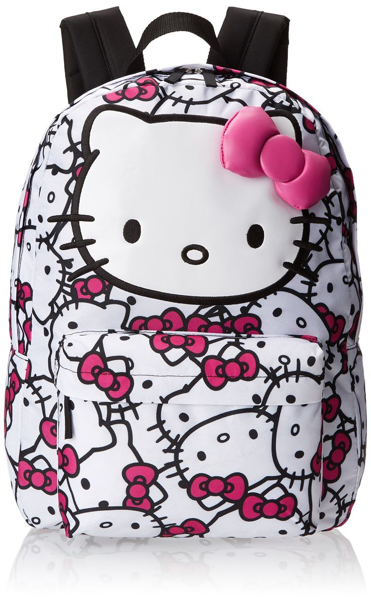 Hello Kitty SANBK0166 Backpack, Fuchsia/White, One Size