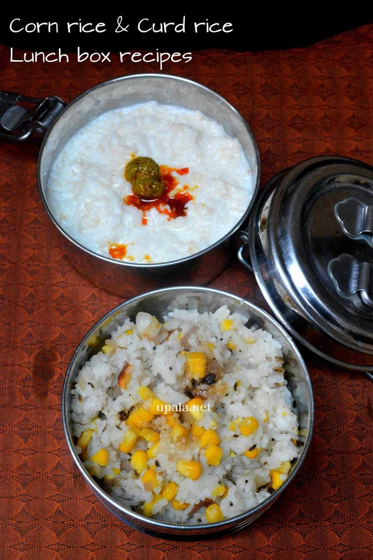 Corn RIce and Curd Rice http://www.upala.net/2015/03/corn-rice-and-curd-rice-kids-lunch-box.html