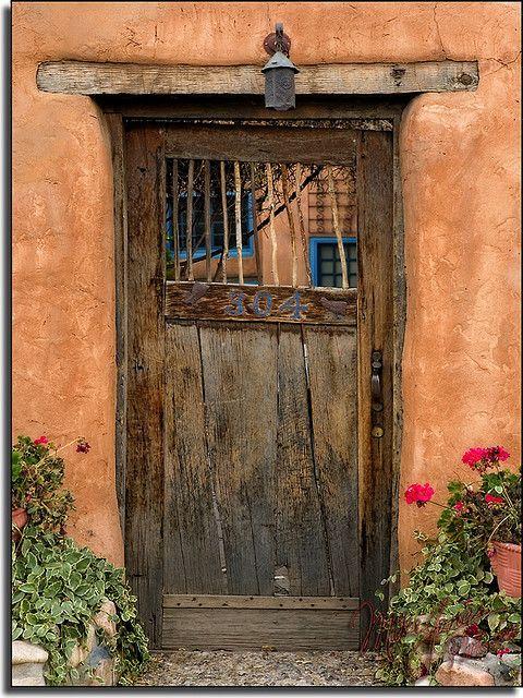 "Santa Fe, New Mexico ~ Miks' Pics ""Doors, Vinders und Gates ll"" board @ http://www.pinterest.com/msmgish/doors-vinders-und-gates-ll/"
