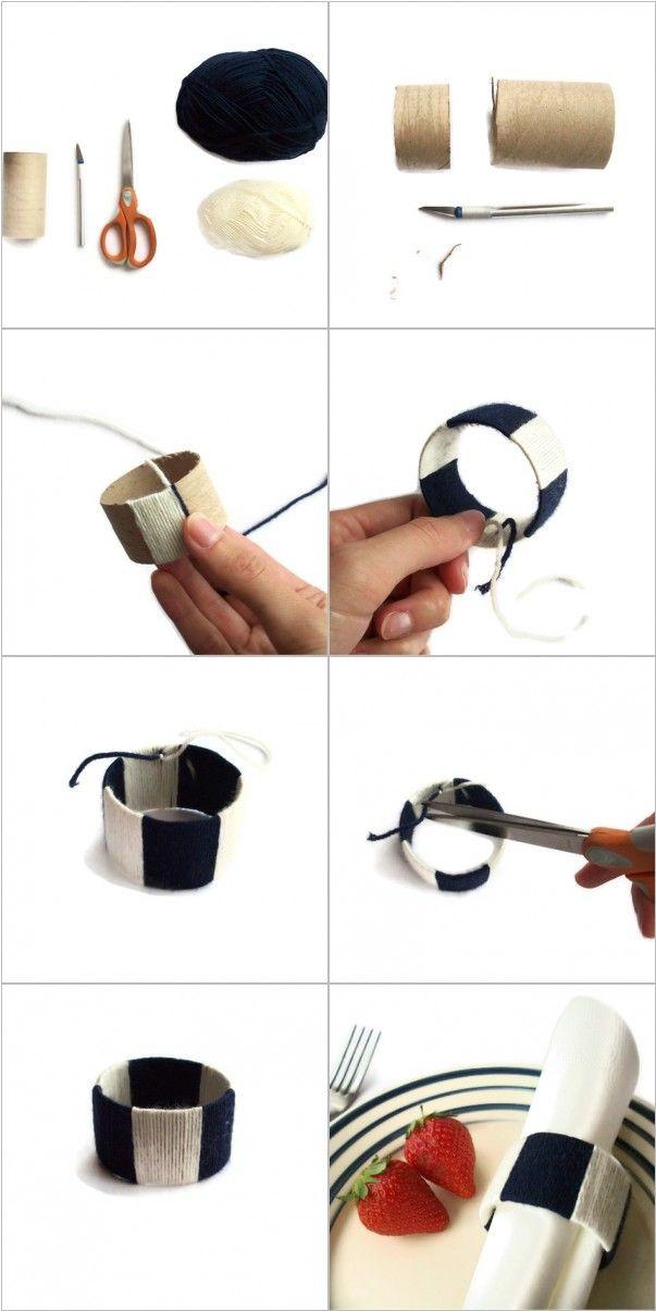 argolas para guardanapos / DIY napkin ring