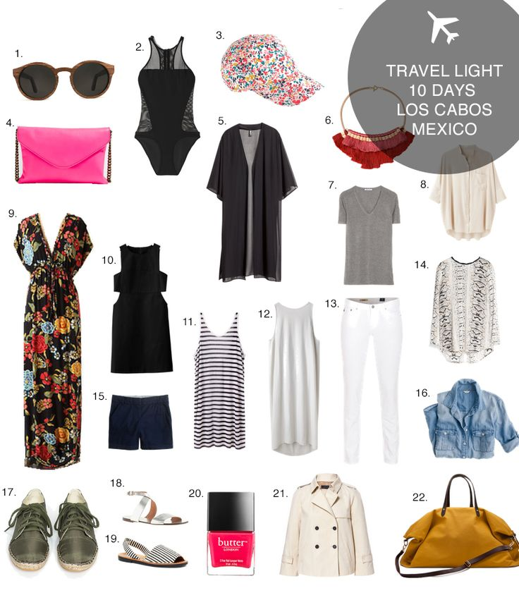 Pack for 10 Days in Los Cabos, Mexico | http://www.teamwiking.com/2014/02/13/travel-light-los-cabos-mexico/
