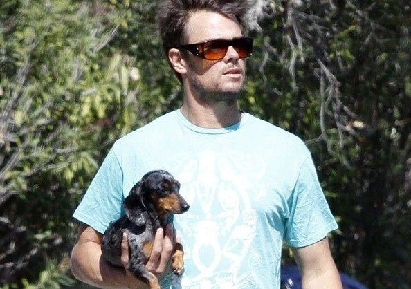The 35 Best Celebrity Dog Fathers: Josh Duhamel has a DOXIE!