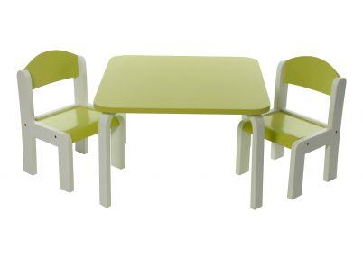 Tafelsetje 'Colour' in 5 kleuren   Set Fabio   Tafeltjes en stoelen
